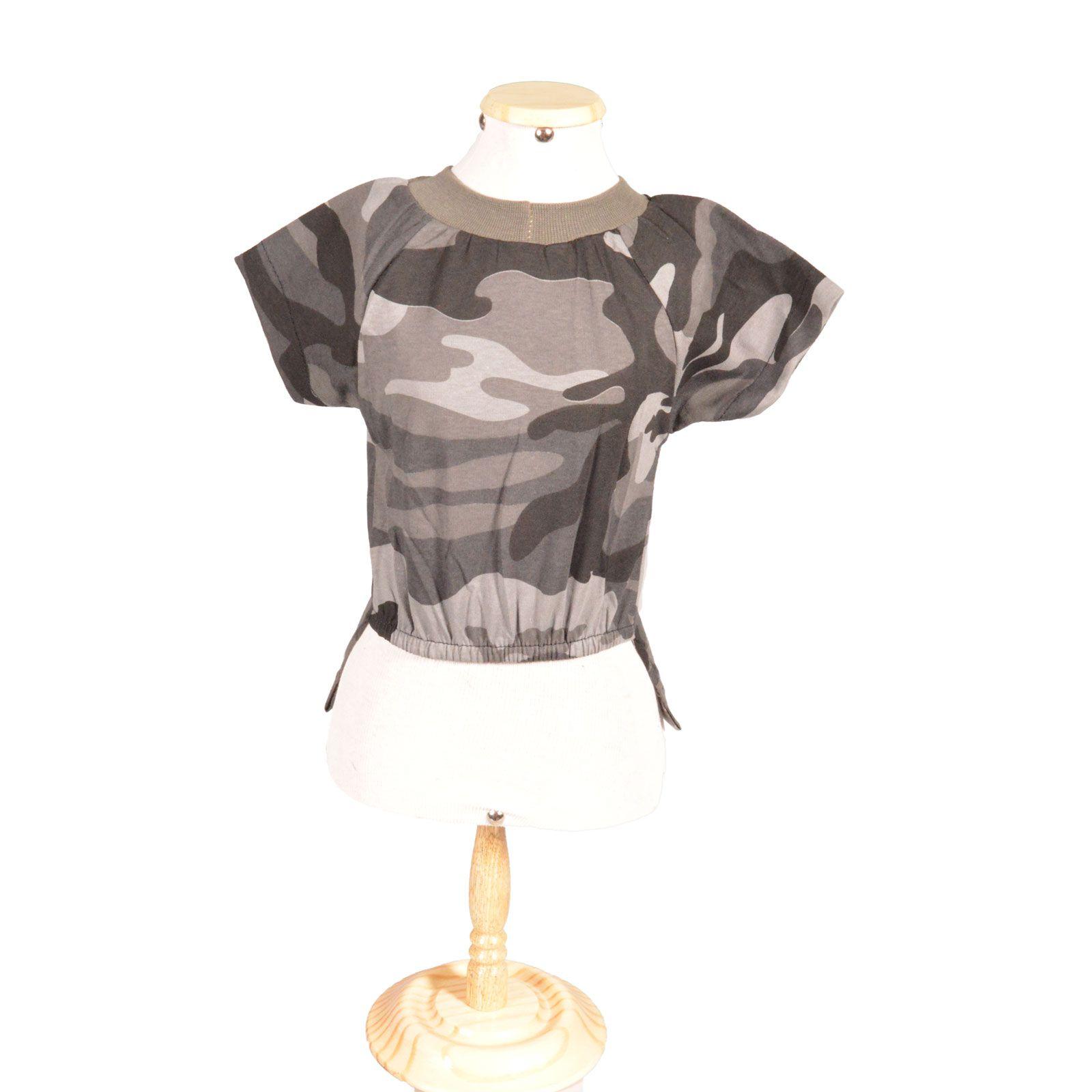 Camiseta Camuflada com bolso traseiro
