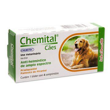 Vermífugo Chemital Cães Chemitec