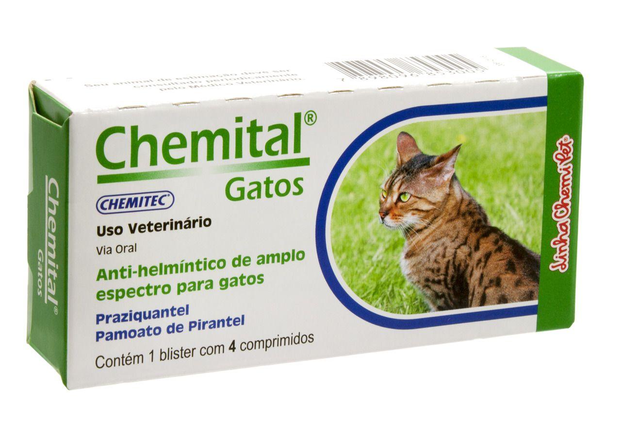 Chemital Gatos C/4 Comprimidos Chemitec