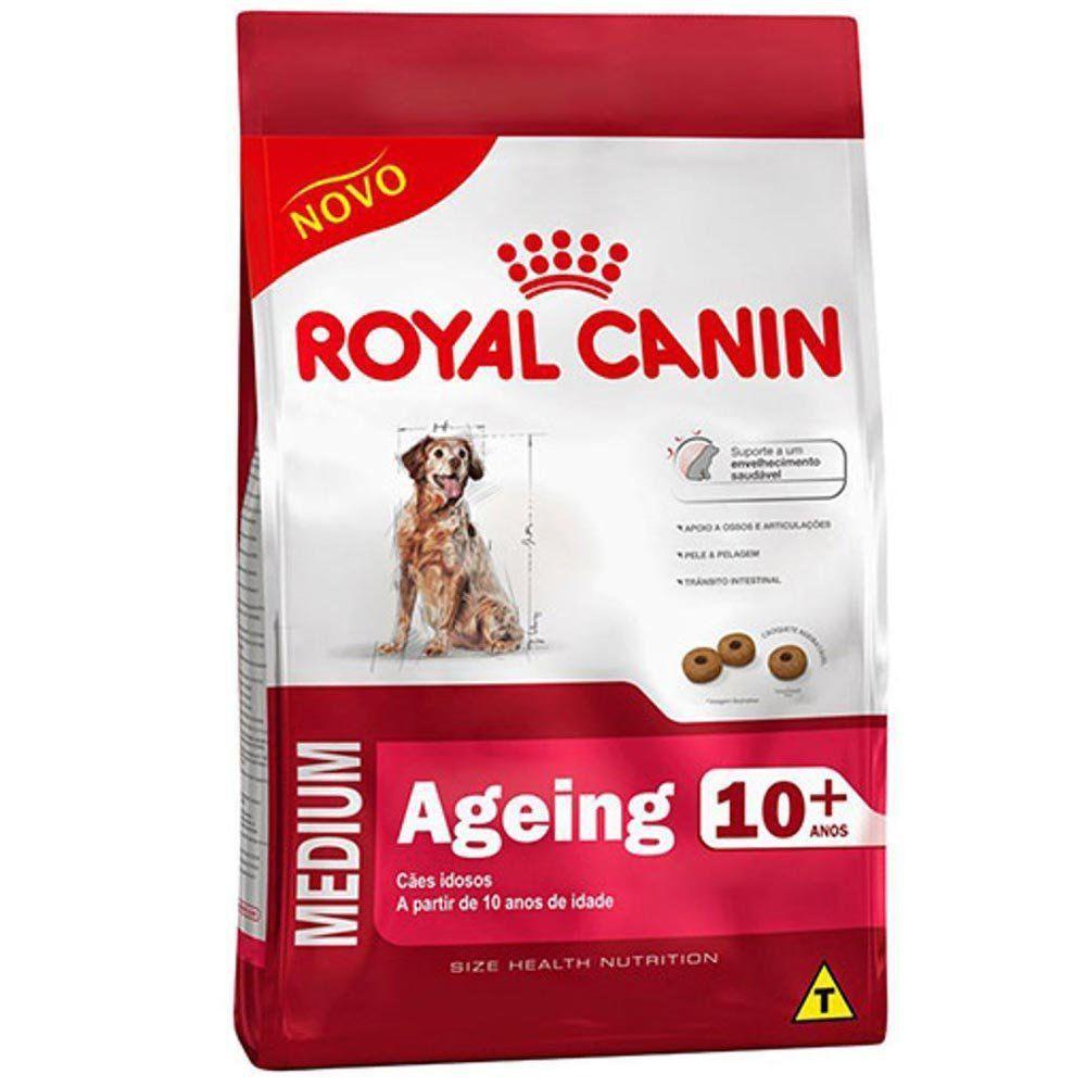 Ração Royal Canin Shn Medium Ageing 10+ para Cães Idosos de Raças Médias Acima de 10 Anos