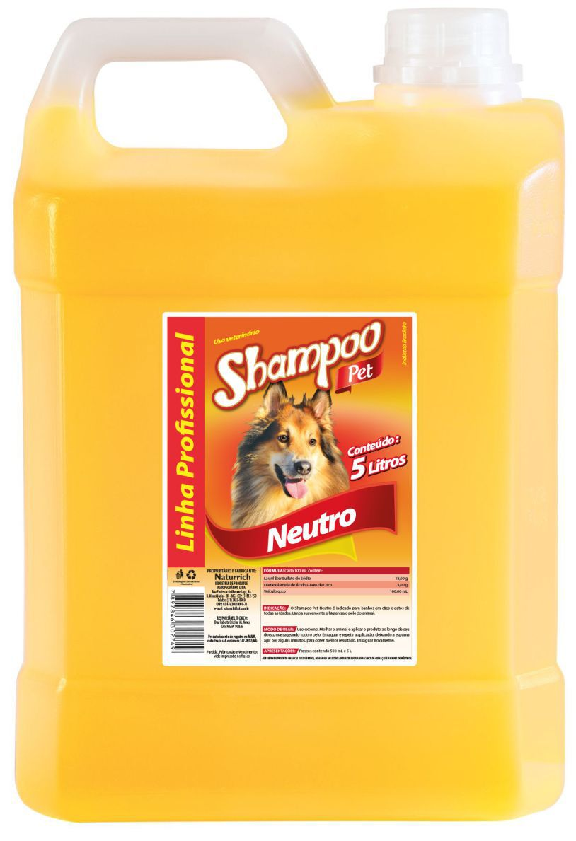 SHAMPOO PET COLOSSO NEUTRO 5 LTS