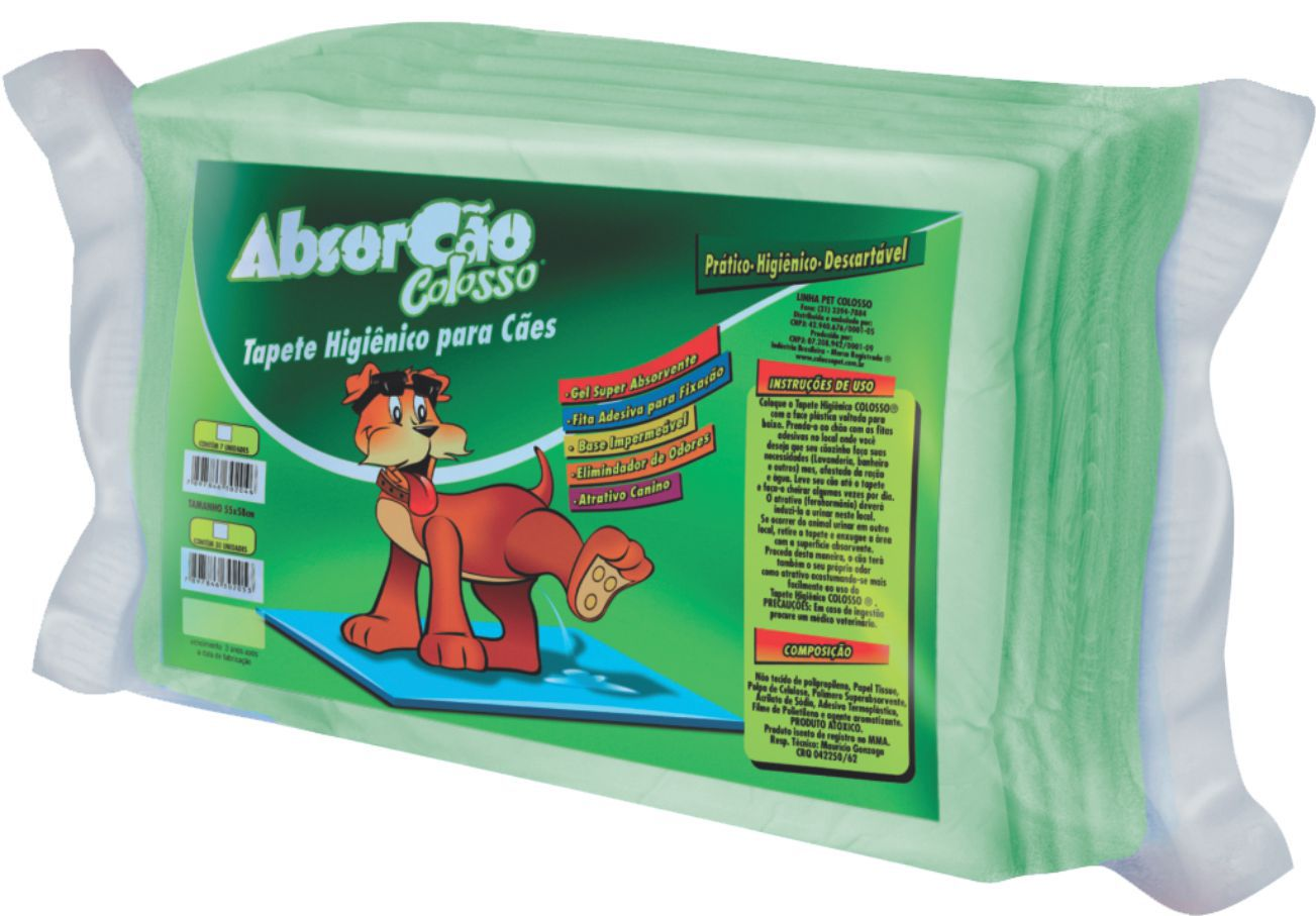 TAPETE HIG ABSORCAO COLOSSO C/30 60X55 CM