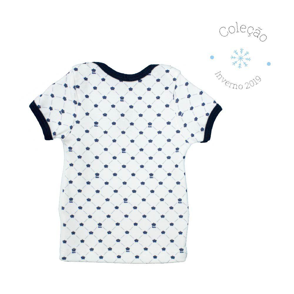 Conjunto Curto Masculino Camisa + Tapa Fralda Algodão Egípcio Estampa Digital Pequeno PrÍncipe