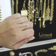 Anel Filete Zircônia Folheado Ouro 18k