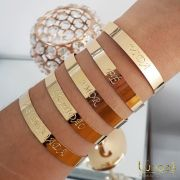 Bracelete Abençoada Folheado a Ouro 18k