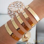 Bracelete Fé Folheado a Ouro 18k