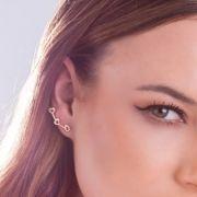 Brinco Ear Cuff Coração  Folheado Ouro 18k