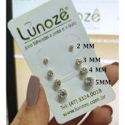 Brinco Pequeno Ponto de Luz Zircônia 4mm Folheado Ouro 18k