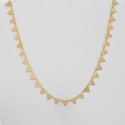 Colar 40cm Triângulos Folheado Ouro 18k