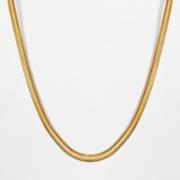 Corrente Feminina Malha Serpente 45cm 5mm Folheado Ouro 18k