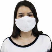 Kit com 10 Unid de Máscara Facial Dupla Reutilizável Tecido