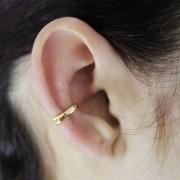 Piercing de Pressão Liso para Orelha Folheado a Ouro 18k