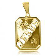 Pingente Jesus Vazado Folheado Ouro 18k