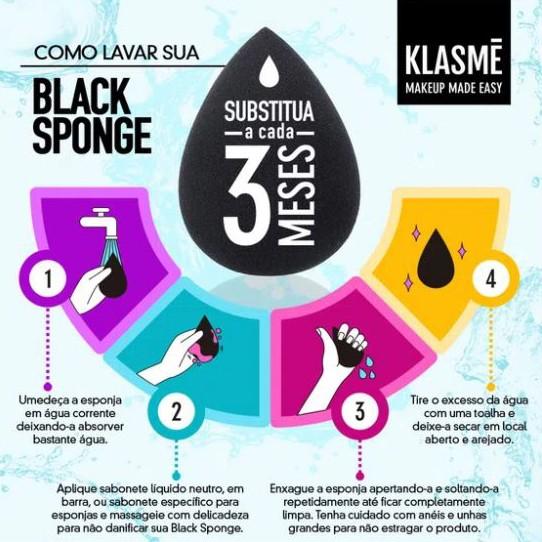 Black Sponge Klasmé  - Lunozê Joias