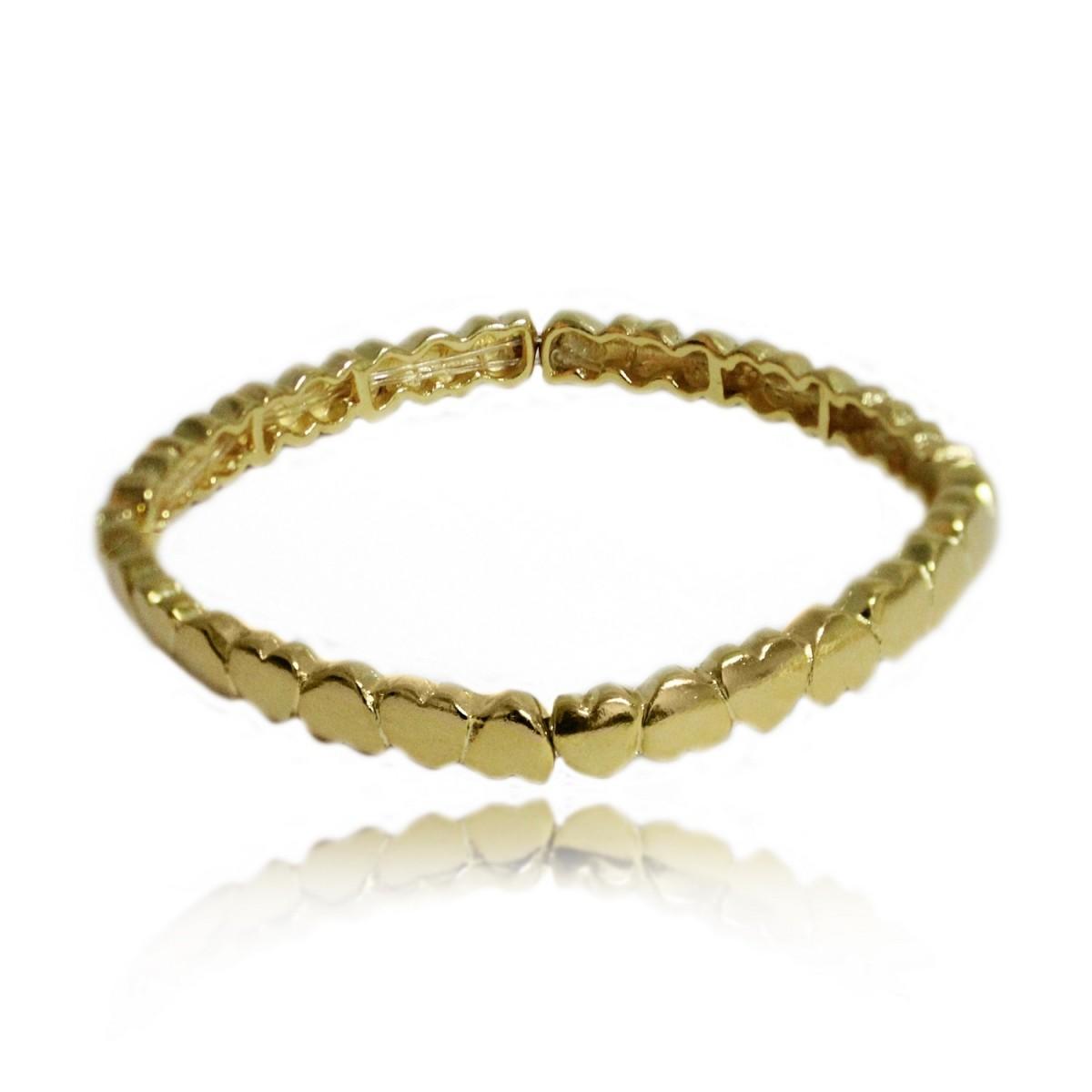 Bracelete Multi Corações Folheado a Ouro 18k