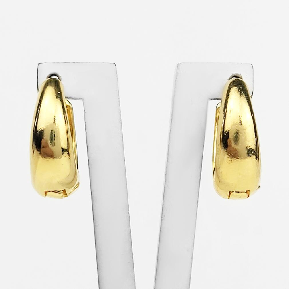 Brinco Argola Lisa 1,5cm Folheado a Ouro 18K  - Lunozê Joias