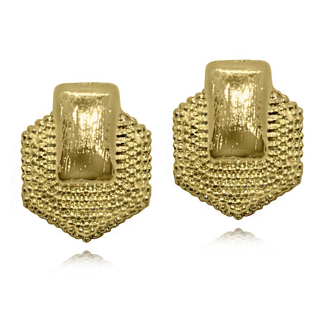Brinco Diamantado  Folheado a Ouro18k