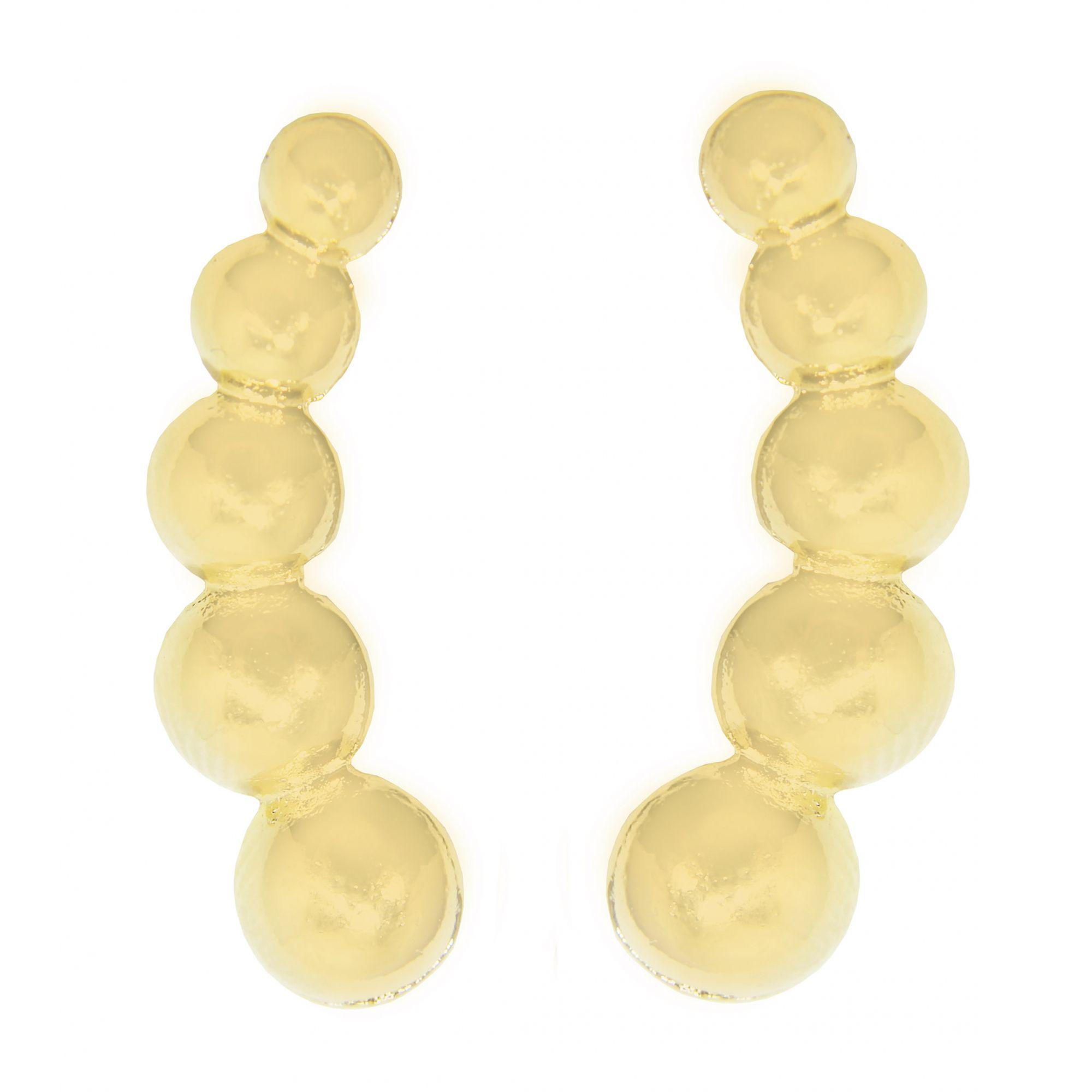 Brinco Ear Cuff Cercle Folheado Ouro 18k