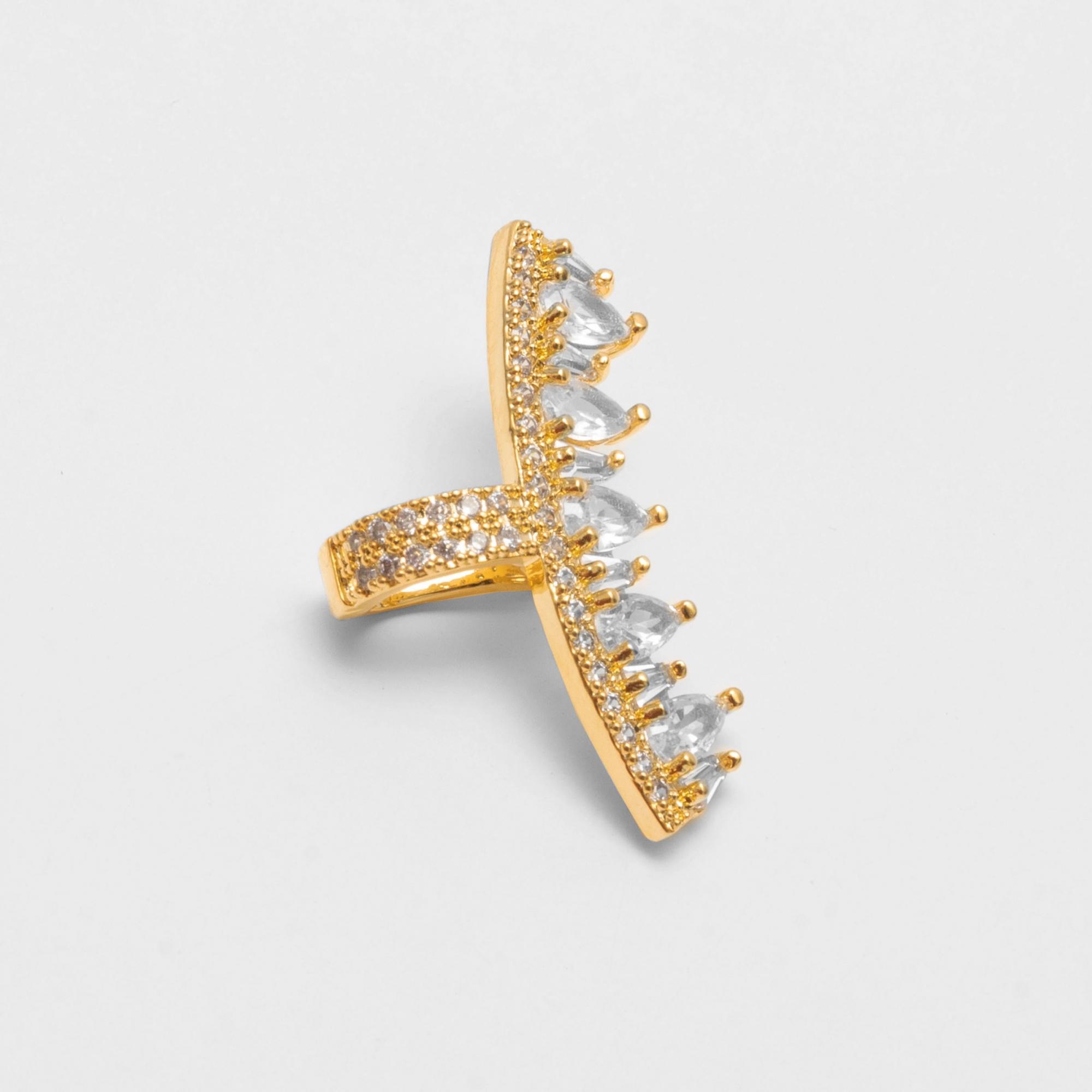 Brinco Piercing Fake Ear Cuff Gotas Folheado a Ouro 18k  - Lunozê Joias