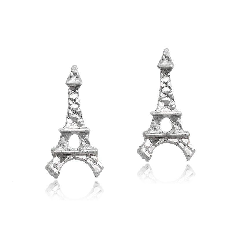 Brinco Torre Eiffel Folheado a Prata 1000