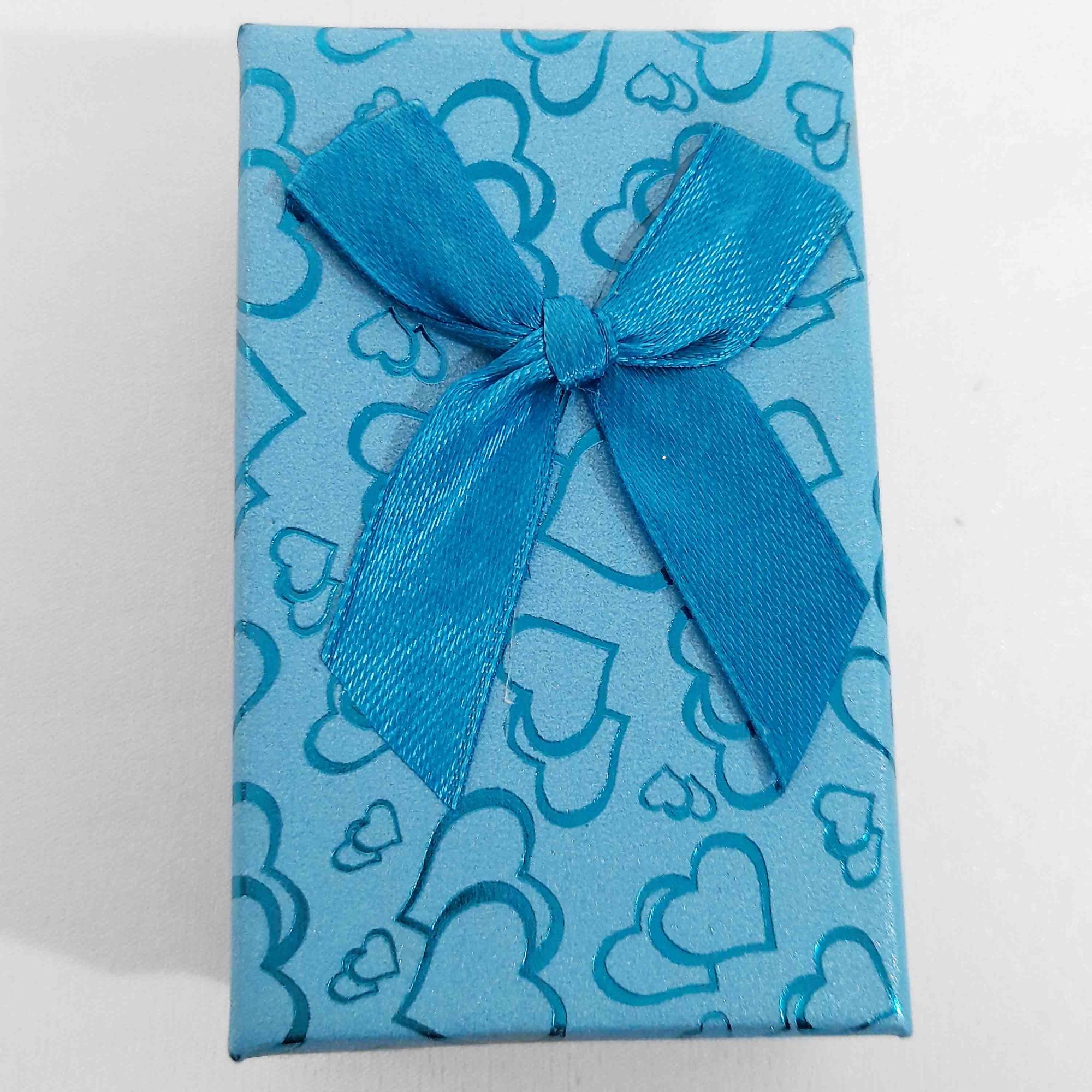 Caixa de Presente com Laço e Corações  - Lunozê Joias