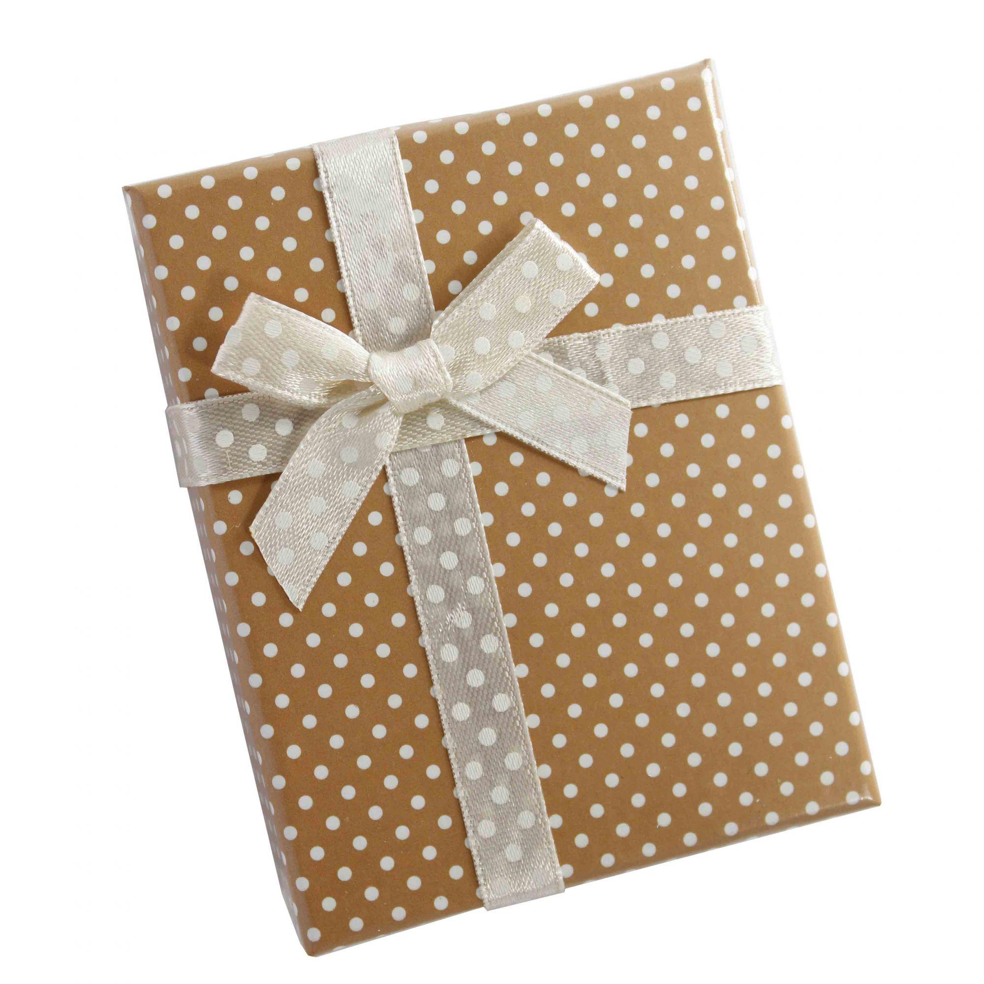 Caixa de Presente Laço Com Bolinhas