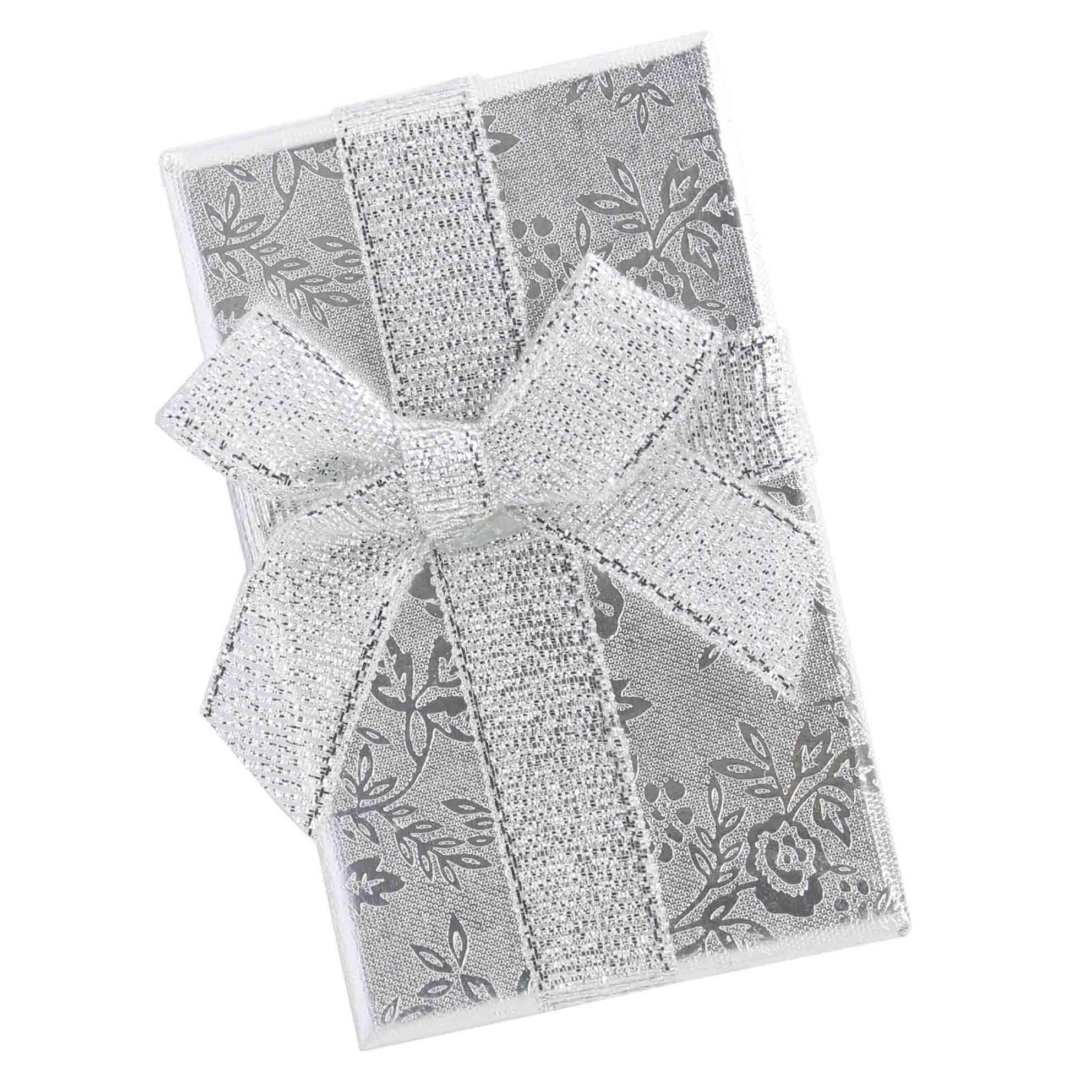 Caixa de Presente Semijóias Média Flor e Laço