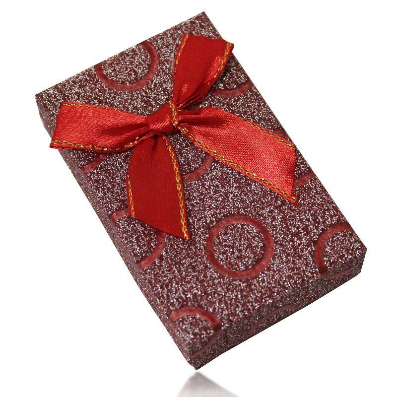 Caixa de Presente Semijóias Pequena com Laço e Círculos