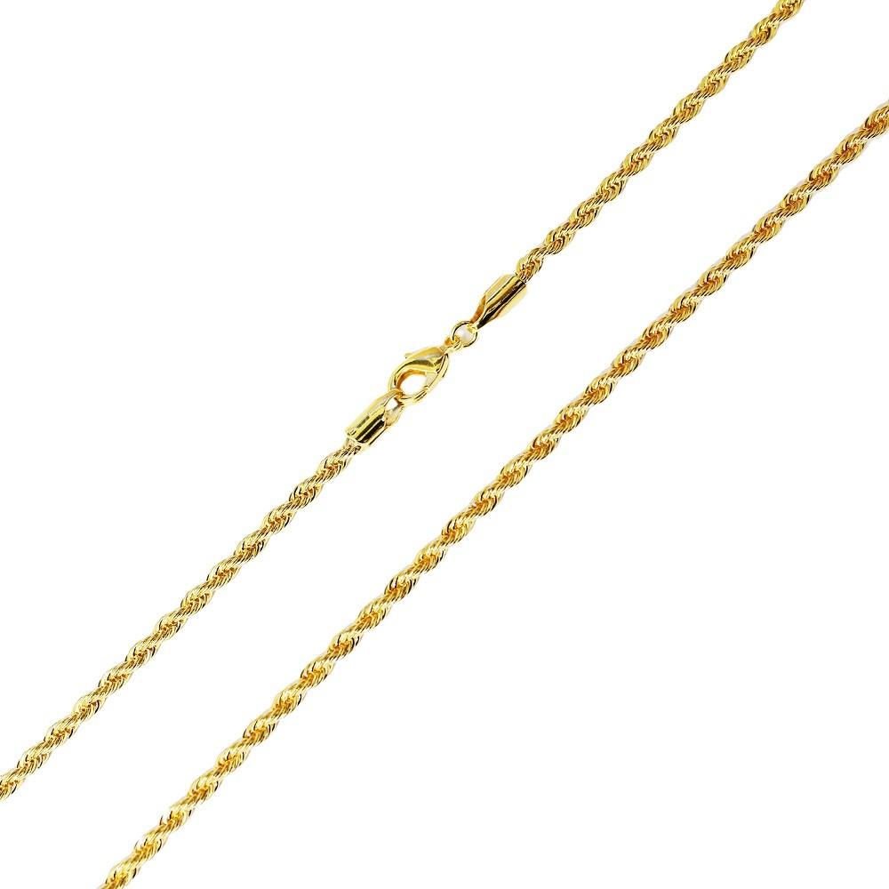 Corrente Cordão Baiano 2mm 48cm Folheada a Ouro 18k