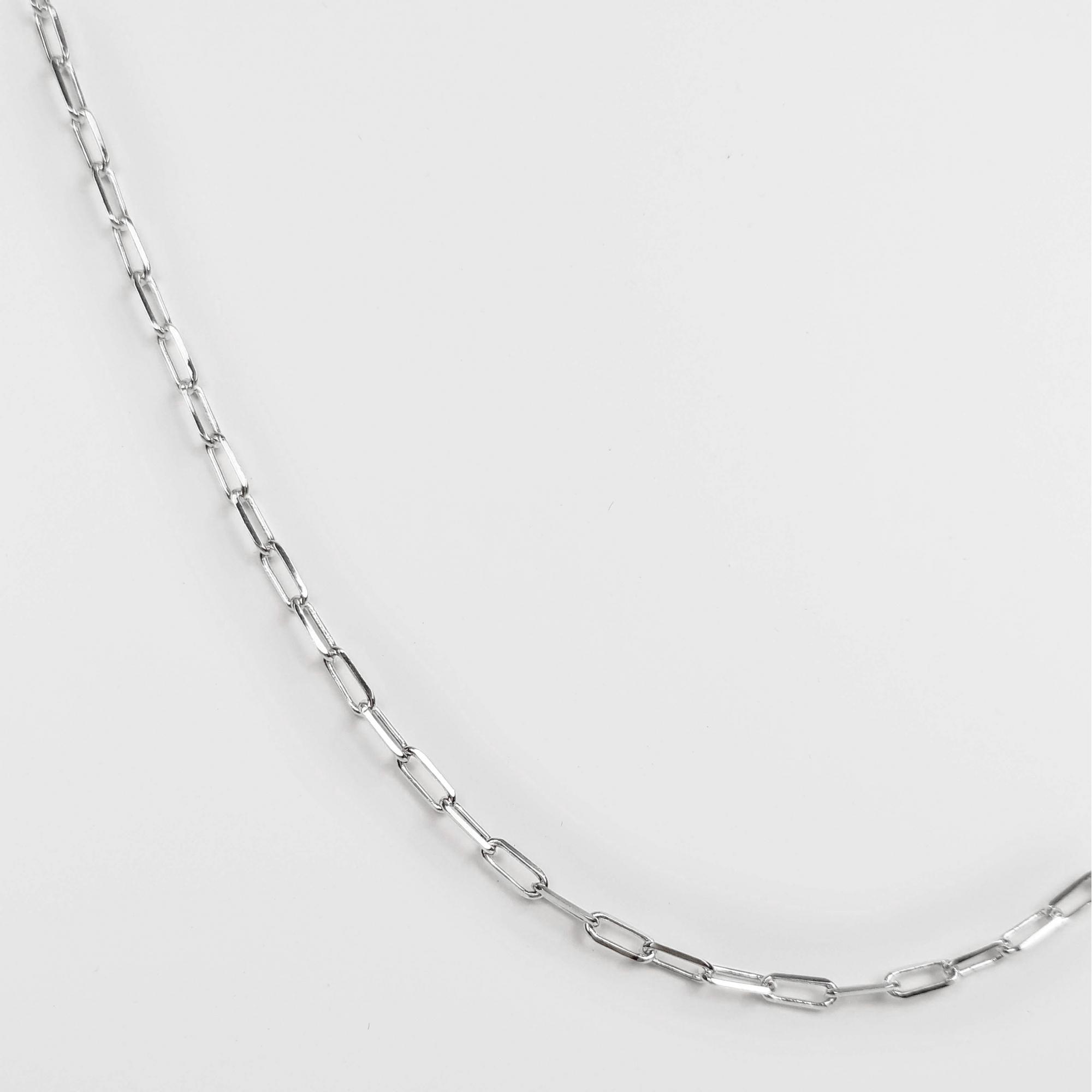 Corrente Feminina Elo Alongado 2,5mm 45cm Folheado Prata 1000  - Lunozê Joias