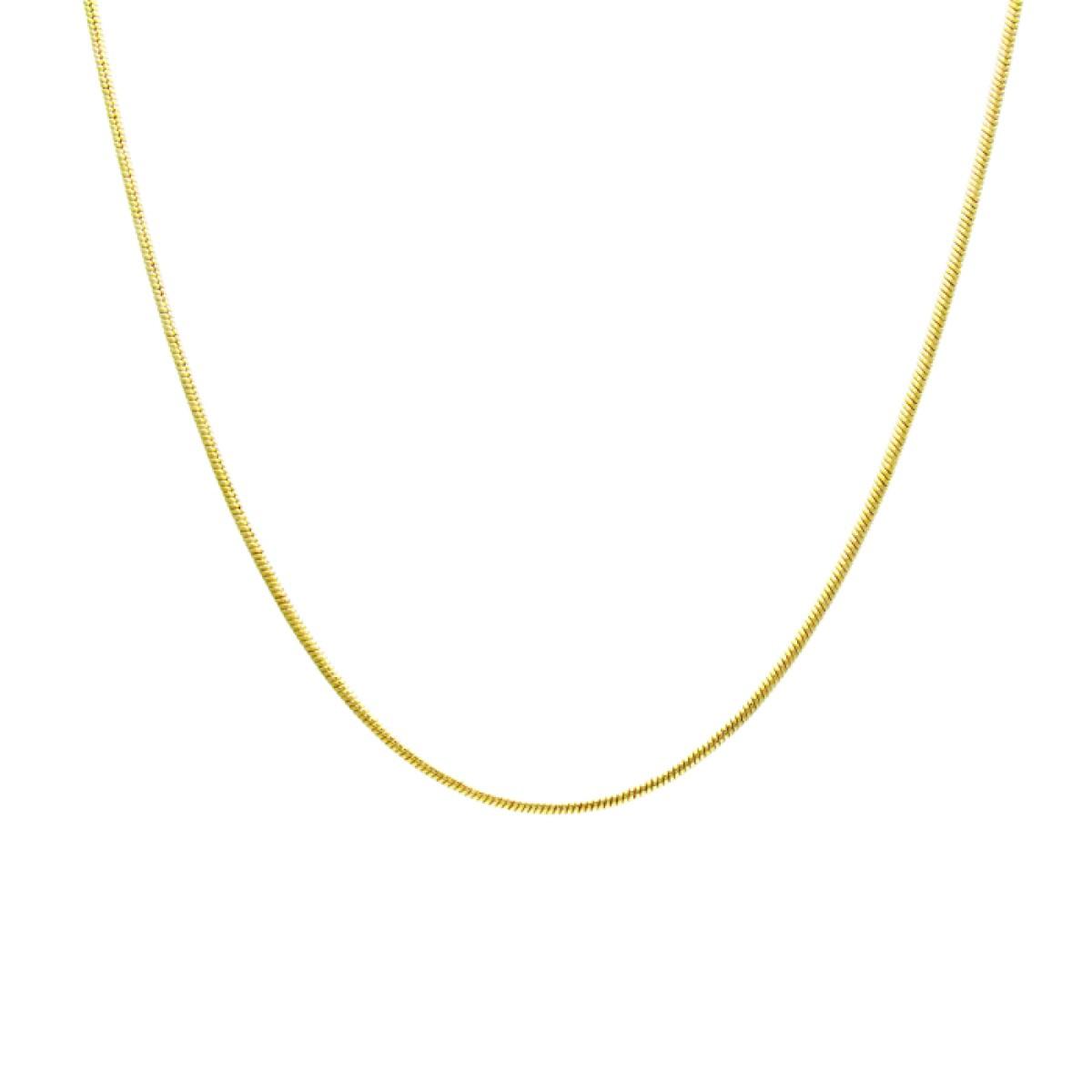 f928827e262e3 Corrente Feminina Rabo de Rato Lisa com 60cm Folheado a Ouro 18K - Lunozê  Joias