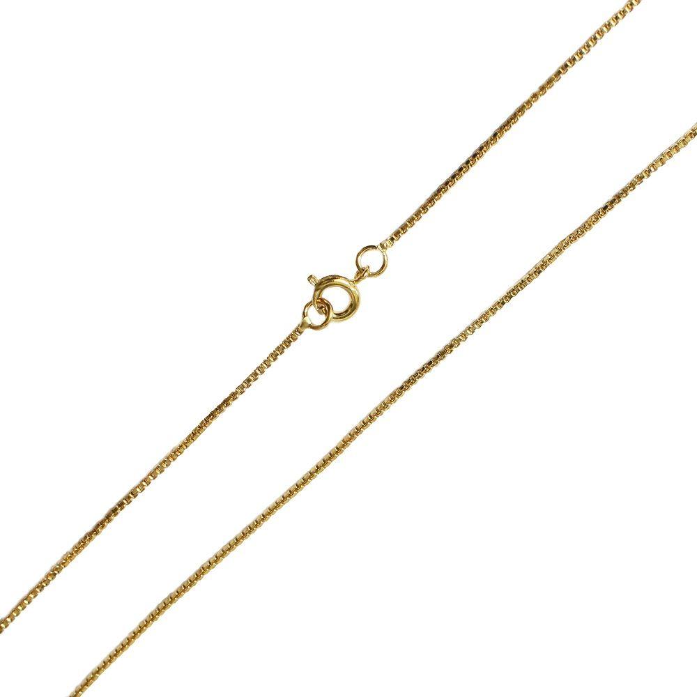 Corrente Feminina Veneziana 45cm Folheado a Ouro 18K