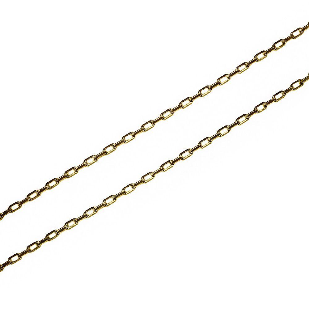 Corrente Malha Cartier 2mm 60cm Folheado Ouro 18k