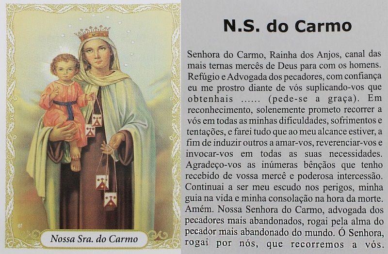 Escapulário N Sª Carmo Imagem Texturizada 60cm Aço Inox