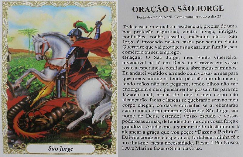 Escapulário São Jorge Relevo 60cm Aço Inox