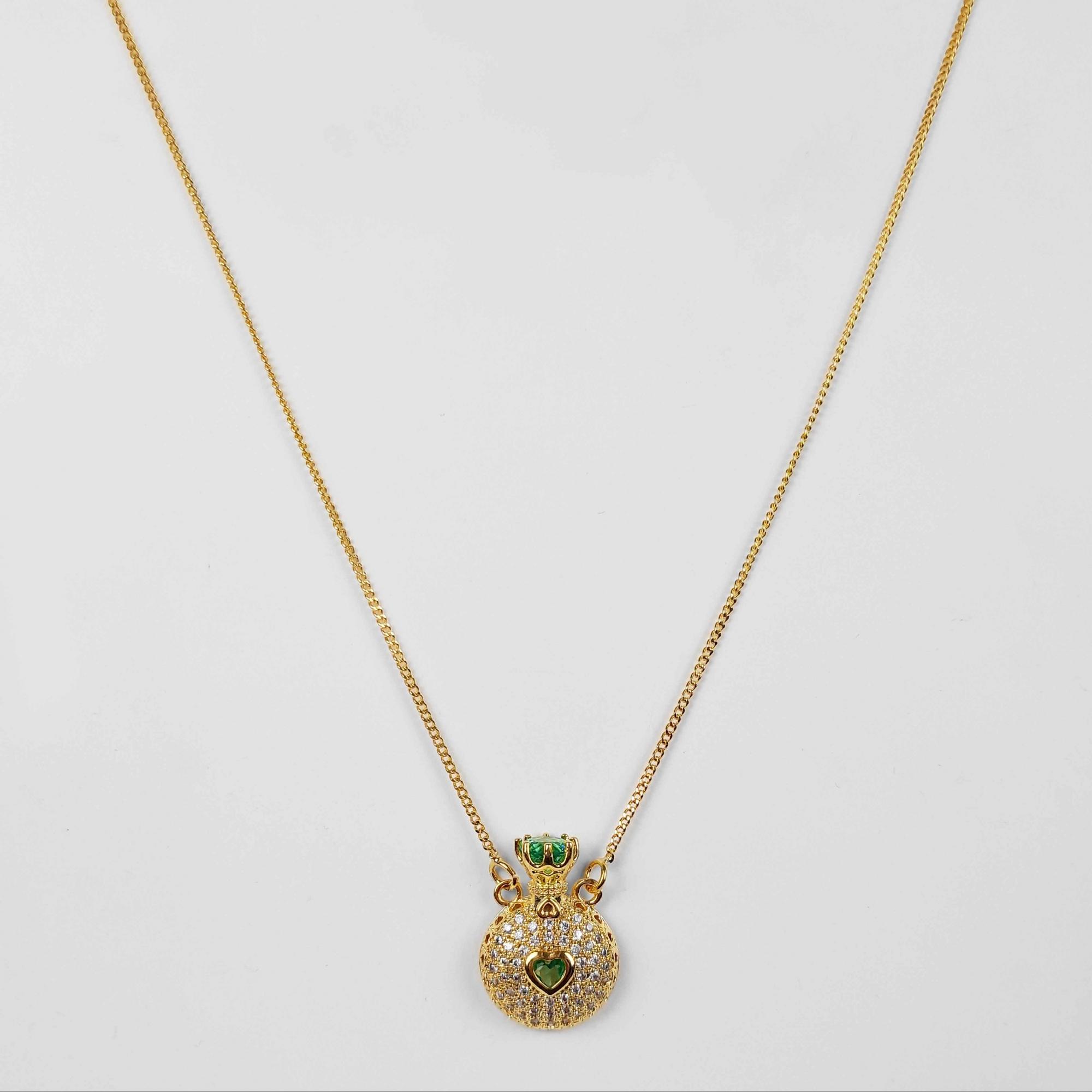 Gargantilha Coroa Cravejado com Zircônias Folheado a Ouro 18K  - Lunozê Joias