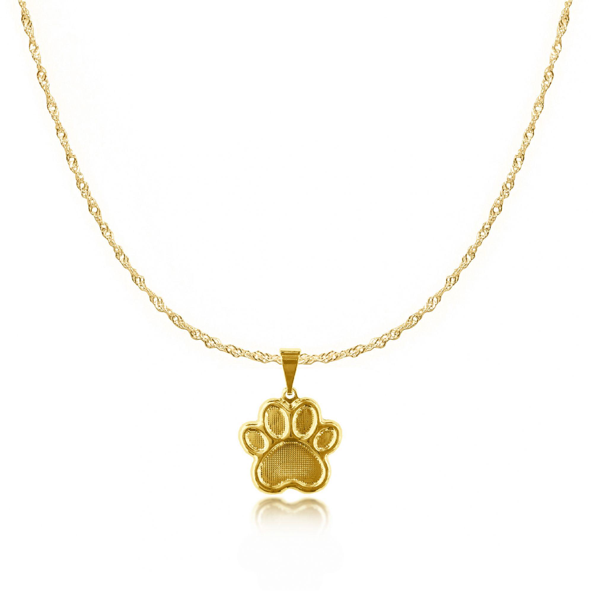 Gargantilha de Patinha de Cachorro Folheado a Ouro 18k  - Lunozê Joias