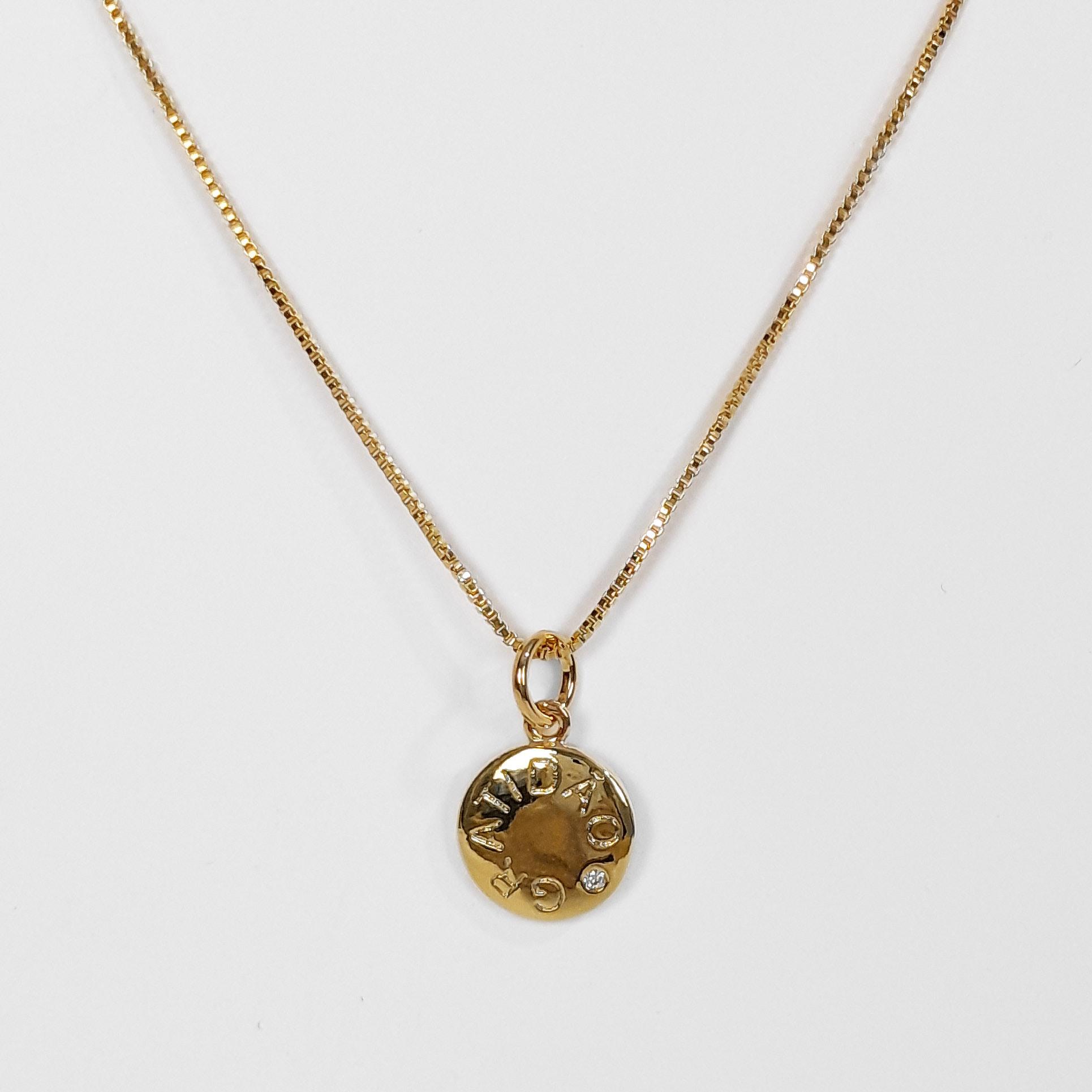 Gargantilha Medalha Gratidão Folheado a Ouro 18K  - Lunozê Joias