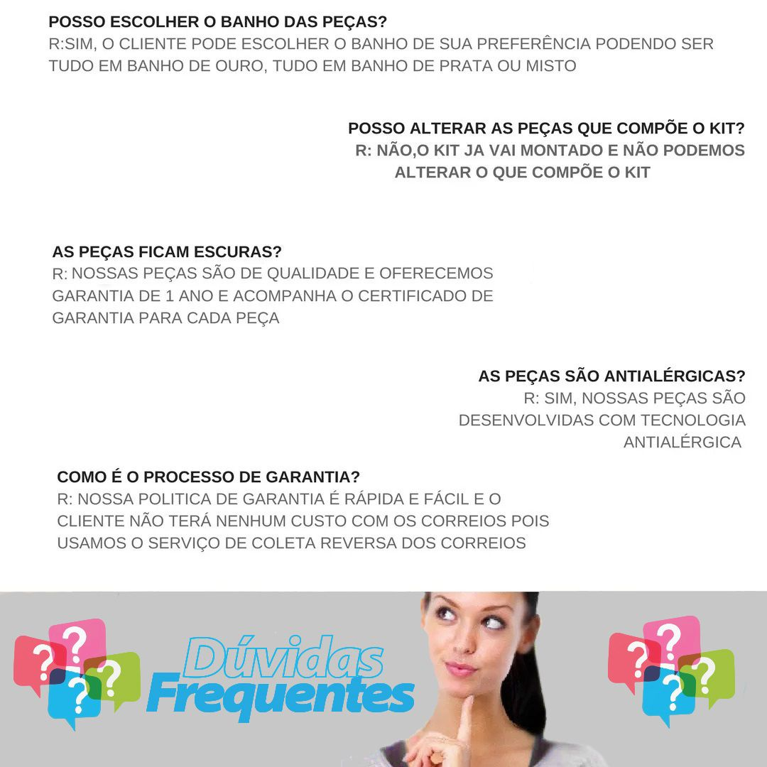 Kit 10 Correntes Masculinas + Pingentes Folheado a Ouro 18k