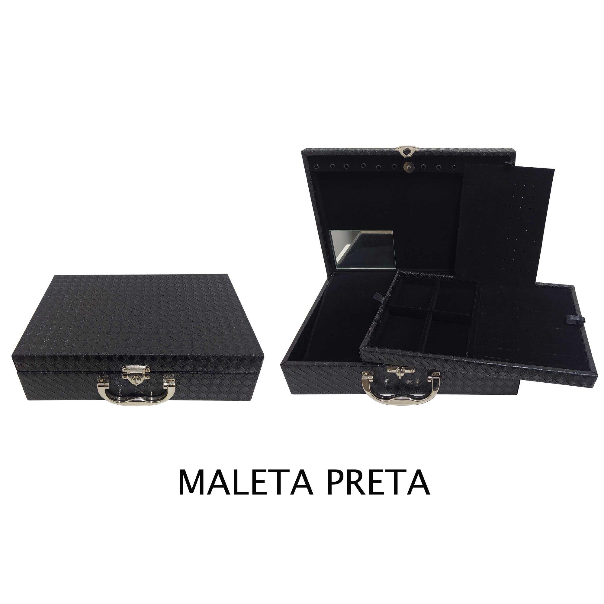 Kit Maleta+65 Peças Joias Folheadas Atacado Para Revenda