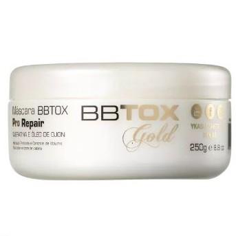 Máscara BBTox GoldPro Repair 250g Alinhamento Capilar YKAS   - Lunozê Joias