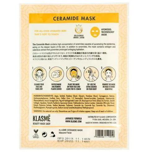 Máscara Facial Ceramide Repair Mask Klasmé  - Lunozê Joias