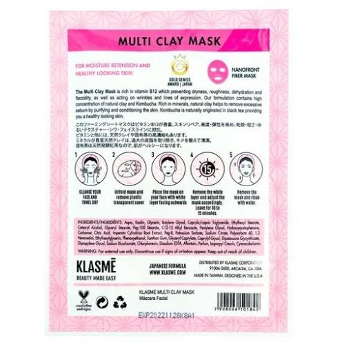 Máscara Facial Multi Clay Mask Klasmé  - Lunozê Joias