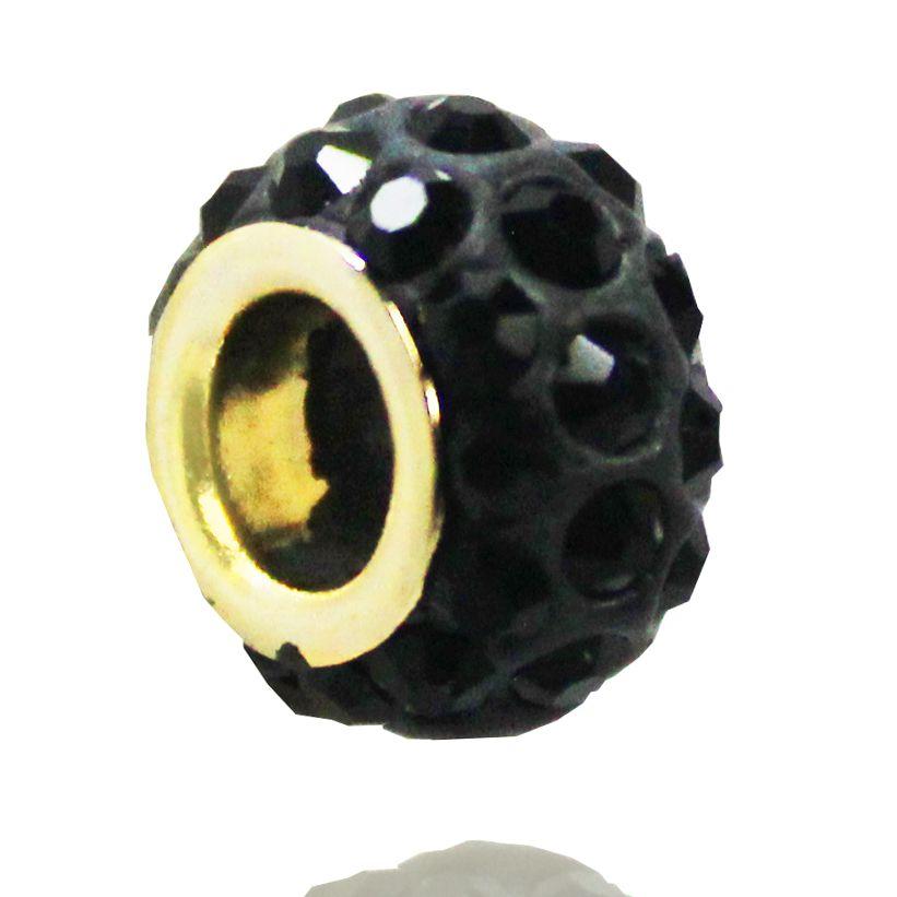 Pingente Berloque Black Folheado Ouro 18k