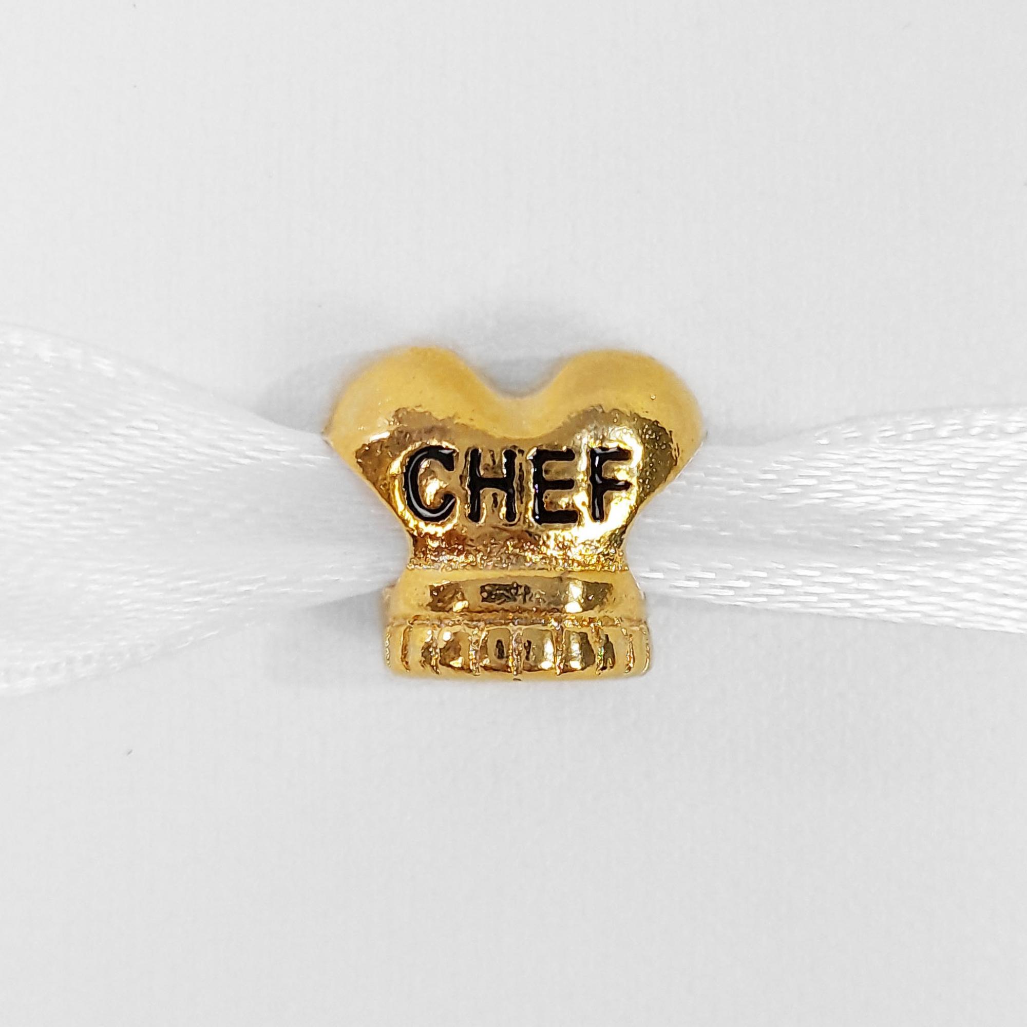 Pingente Berloque Chef Folheado A Ouro 18k  - Lunozê Joias