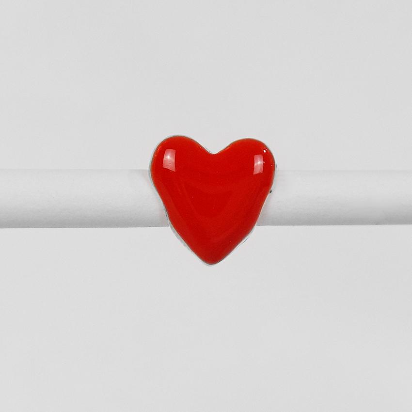 Pingente Berloque Coração Folheado a Prata 1000  - Lunozê Joias