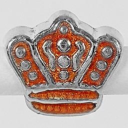 Pingente Berloque Coroa Folheado a Prata 1000  - Lunozê Joias