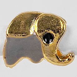 Pingente Berloque Elefante Folheado a Ouro 18k  - Lunozê Joias