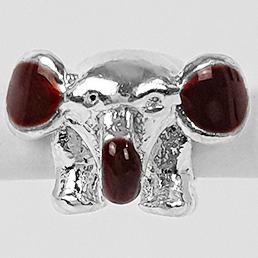 Pingente Berloque Elefante Folheado a Prata 1000  - Lunozê Joias