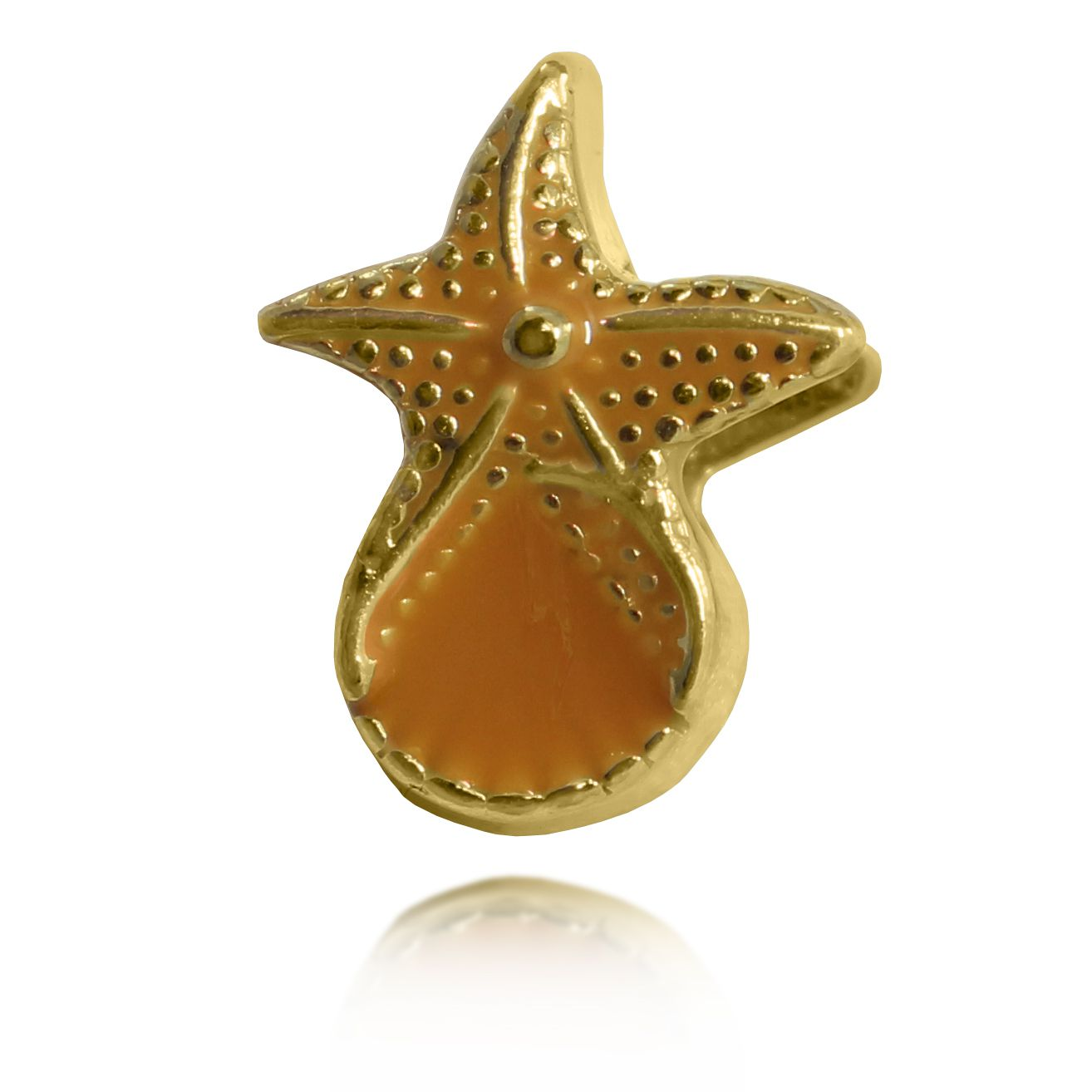 Pingente Berloque Estrela Marinha Folheado a Ouro 18k
